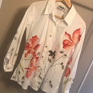 Chico's Design Watercolor Look Blouse - Size 8/M